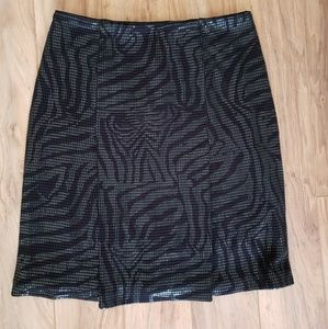 Janine's of London abstract black skirt
